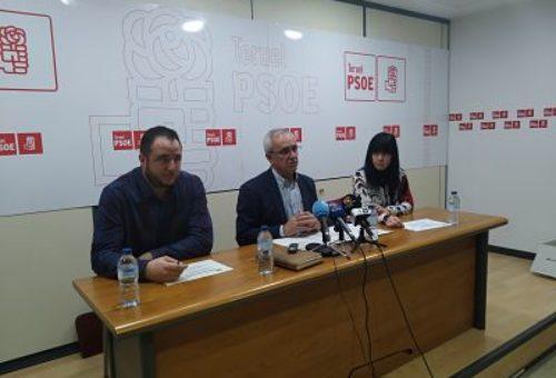 EL GRUPO MUNICIPAL DEL PSOE TERUEL PRESENTA SUS ENMIENDAS AL PRESUPUESTO, QUE VAN DIRIGIDAS A MEJORAR LOS SERVICIOS EN LA CIUDAD Y LOS BARRIOS RURALES.